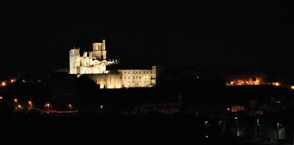 Cathédrale de Béziers au clair de lune
